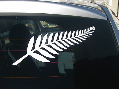 1 New Zealand Silver Fern White Decal 200mm X 75mm • 2.70£