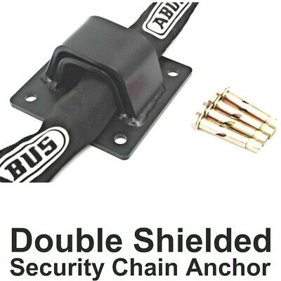 BLACK DOUBLE SHIELDED Security Wall & Ground ANCHOR + FIXING BOLTS • 16.45£