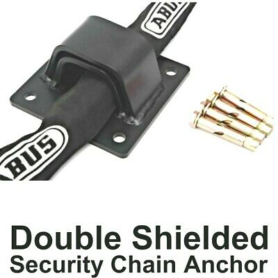 DOUBLE SHIELDED Security Wall & Ground ANCHOR BLACK + FIXING BOLTS UK Made • 16.45£