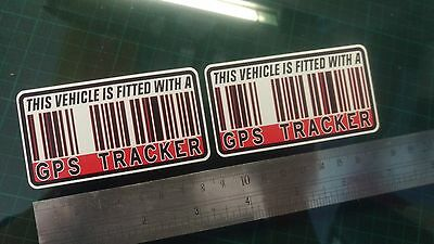This Vehicle Is Fitted With GPS Tracker Stickers Decal X2 Car Bike Scooter Quad  • 2.99£