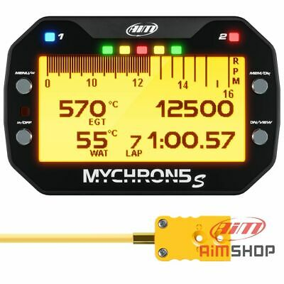 Aim Mychron 5S Karting GPS Lap Timer With Under Plug Temperature Sensor For Kart • 450£
