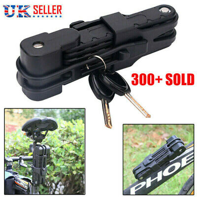 Folding Bicycle Cable Lock Steel Bike Security Anti-Theft Combination MTB Road • 10.78£