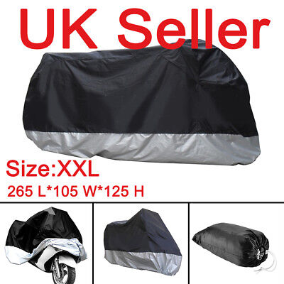 XXL Large Heavy Duty Waterproof Motorcycle Motorbike Cover Outdoor Rain Protect • 10.19£