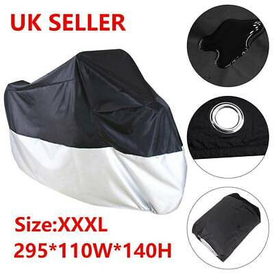 XXXL Large Motorcycle Waterproof Outdoor Motorbike Rain Bike Cover Protective UK • 8.99£