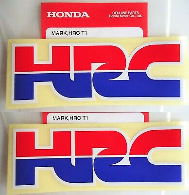 2 X Honda Hrc ( Honda Racing Corporation ) Sticker Decal Badge 100% Genuine • 7.95£