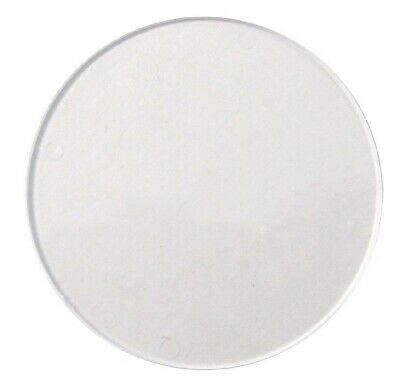 Tax Disc Holder Replacement Round Perspex Glass • 3£