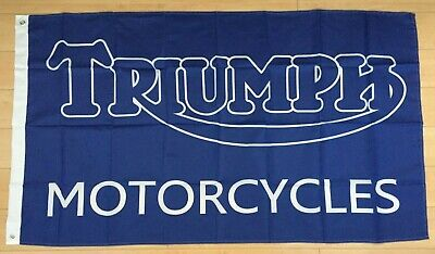 Triumph Motorcycles 3x5 Ft Flag Banner Car Garage Motorcycles • 9.37£