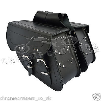 Motorcycle Leather Saddlebags Panniers Triumph Thunderbird America Rocket C13a • 99.99£
