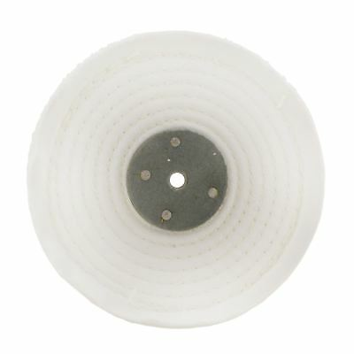 White Close Stitched Metal Polishing Buffing Mop 6  X 1  2 Section 2nd Stage • 8.50£