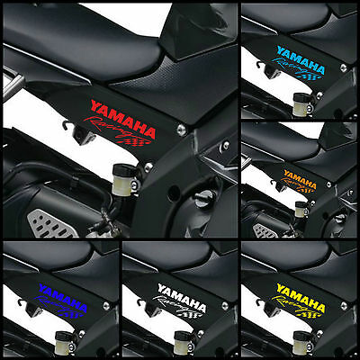2x YAMAHA RACING Decals Body Panel Stickers Graphics YZF YZ-F R1 R6 Bikes -120mm • 7.95£