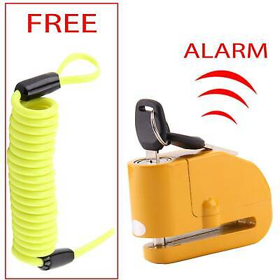 Heavy Duty Security Bike Motorcycle Motorbike Disc Lock + Reminder Cable 1.5M • 9.95£