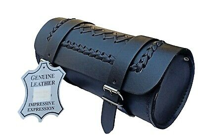Motorcycle Motorbike Real Leather Tool Roll Saddle Bag, Criss Cross Zn-trb010 • 13.99£