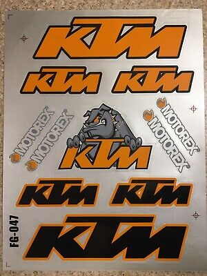 Ktm Reflective Mx Stickers Decals Graphics Sheet Waterproof Motorcross EXC SX • 3.89£