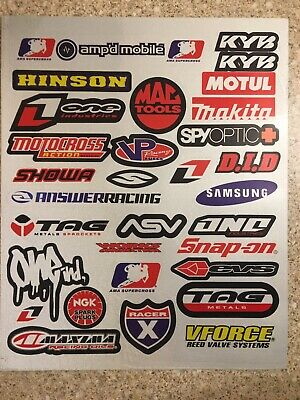 HINSON 2 Pack Reflective Stickers Decals Graphics Kit Sheet Mx Motocross Ktm • 5.79£
