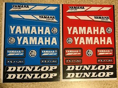 2 Pack Yamaha Stickers 2xRED Decals Graphics Sheet Waterproof Motocross Mx DTR • 4.79£