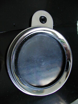 Stainless Steel TAX DISC LICENCE Photo HOLDER Fits Authentic Vintage Motorbikes • 19.99£