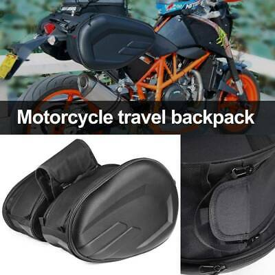 Motorcycle Rear Seat Tail Bags Motorbike Luggage Storage Rider Backpack Black • 20.99£