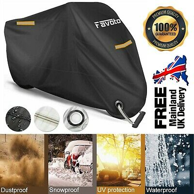 Motorbike Motorcycle Cover Heavy Duty Waterproof XXXL Anti UV Lock Protection UK • 18.99£