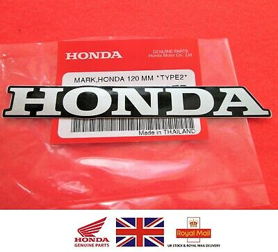 HONDA MARK 120mm SILVER & BLACK STICKER DECAL BADGE LOGO GENUINE ***UK STOCK*** • 4.85£