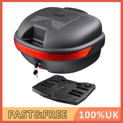 30L Universal Motorcycle Top Box Motorbike Extral Back Tail Rear Luggage Case • 32.42£