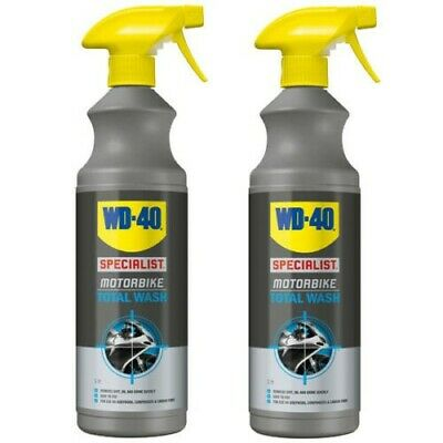 WD-40 Specialist Motorcycle Motorbike All Over Total Wash X2 • 13.50£