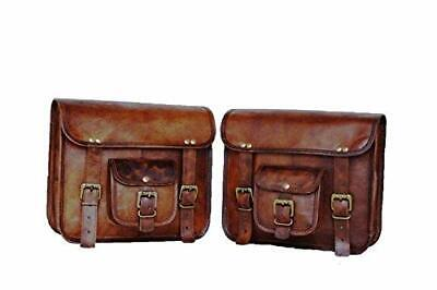 1 Pair Motorcycle Side Saddlebags Leather Rear Seat Spacious,High Quality • 52.23£