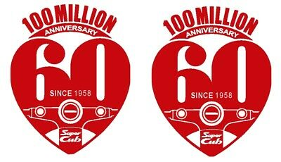 HONDA CUB SUPERCUB 100 MILLION ANNIVERSARY DECAL C125 CT125 C70 C90 C100 X2 • 11.99£