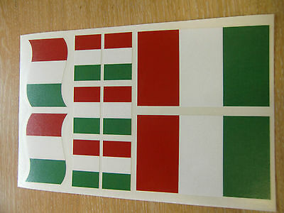 ITALIAN FLAG STICKERS SHEET SIZE 21cm X 14cm - ITALY DECALS • 3.99£