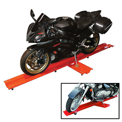 Motorcycle Dolly Motorcycle Stand Steel 600kg Side Stand Included Parking Mover • 105.99£