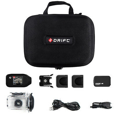 DRIFT Ghost 4K Motorcycle Action Camera PACK (+LCD Touch Screen, Water Proof Cas • 299.99£