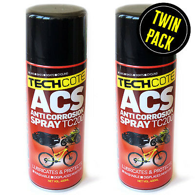 Tech Cote ACS Anti Corrosion Spray Protects Against Salt 2 X 400ml Pack • 17.99£