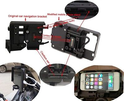 Phone GPS Navigation Bracket Mount USB Charger For BMW R1200GS LC ADV S1000XR • 29.99£