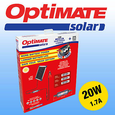 Optimate 20w Solar Panel Motorcycle Battery Charger Maintainer Fully Automatic  • 129.95£