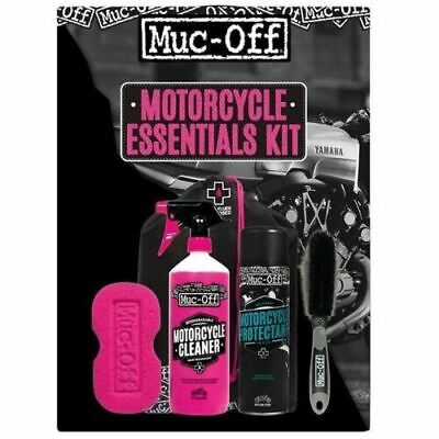 Muc-Off Motorcycle Essentials Cleaning Kit - Great Gift Idea • 24.99£