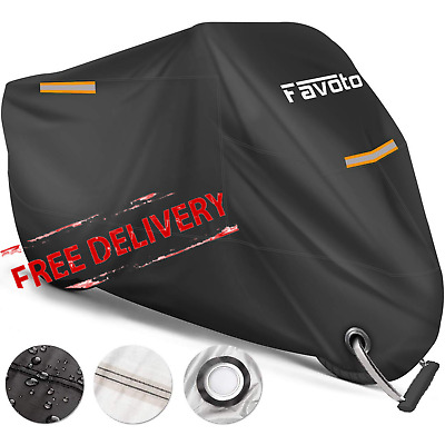 Motorcycle Cover Waterproof Motorbike Protector Heavy Duty Outdoor Protection • 20.99£
