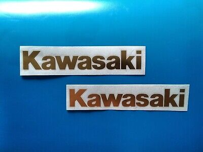 Kawasaki Decals 8 Inch Gold, None OEM Excellent Quality • 4.78£