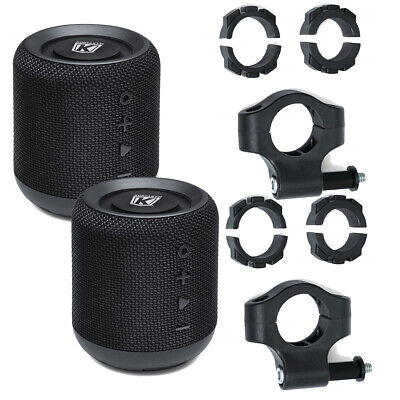 Kuryakyn 1952 1955 Sidekix Plus Blutooth Speaker W/Mount (2 Each) IPX7 Rated • 105.65£