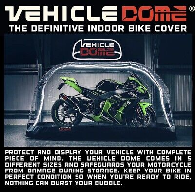 Vehicle Dome Medium Indoor Motorcycle Inflatable Air Bubble Cover Storage System • 234£