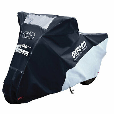 Oxford Rainex Motorcycle Bike Outdoor Vented Soft Lined Cover Black XLarge CV504 • 45.95£
