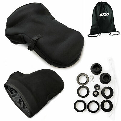 Motorcycle Handlebar Muffs Waterproof Soft Shell Hand Cover - No Bar End Fitted • 24.99£
