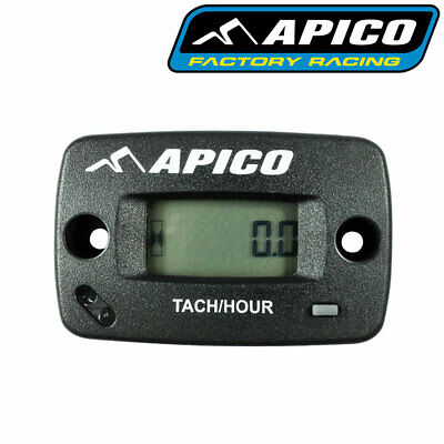 Apico Hour Meter Tachmeter RPM Without Bracket Motocross Enduro Motorcycle ATV • 29.95£