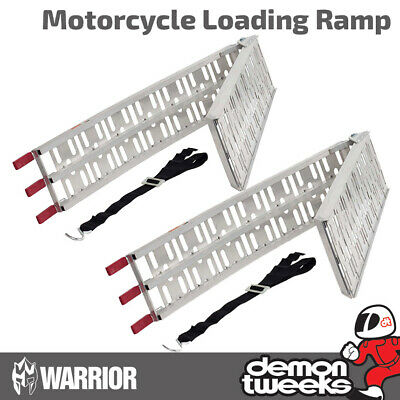 2 X Warrior Folding Quad/Mobility Scooter/Golf Buggy/Lawn Mower Loading Ramps • 100£