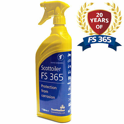 Scottoiler FS365 Anti Corrosion Spray 1 Litre Motorcycle Protects Against Salt • 12.25£