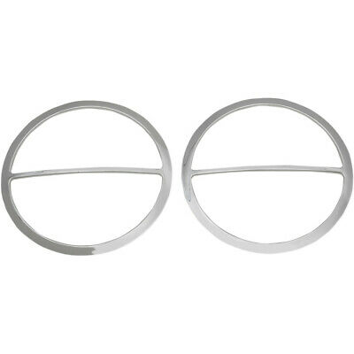 Drag Specialties Chrome Front Speakers Accents For Harley 14-16 FLH/X Models • 22.44£