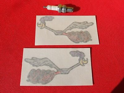 Pair Of Road Runner Large Stickers • 2.40£