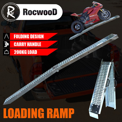 Ramp Folding Steel Loading X1 300KG 1.8 Metre Trailer Motorbike Motorcycle • 37.49£