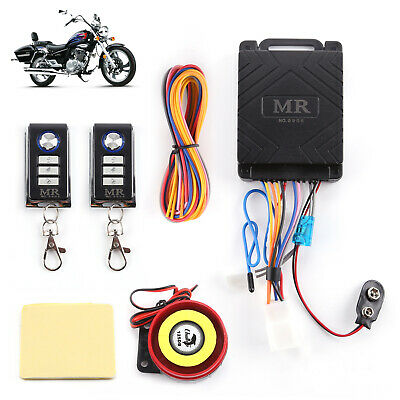 Motorcycle Motorbike Alarm System Anti-theft Immobiliser Security Remote Control • 8.59£