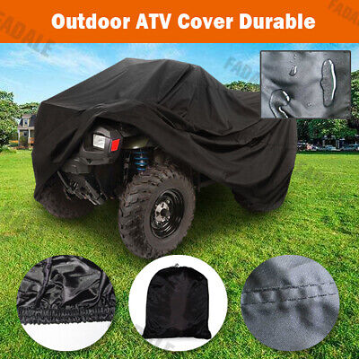 XL Large Waterproof Quad Bike ATV Storage Cover Universal Fit 4 Wheel KA2YV • 12.99£