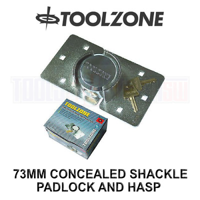 Toolzone Concealed Shackle Padlock And Hasp LK107 • 18.18£