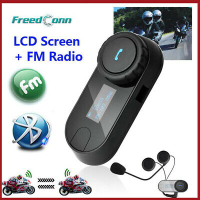 Freedconn TCOM-SC 800M Motorcycle Intercom Bluetooth Helmet Headset FM Radio GPS • 39.99£